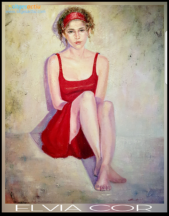 la joven de rojo elvia cor
