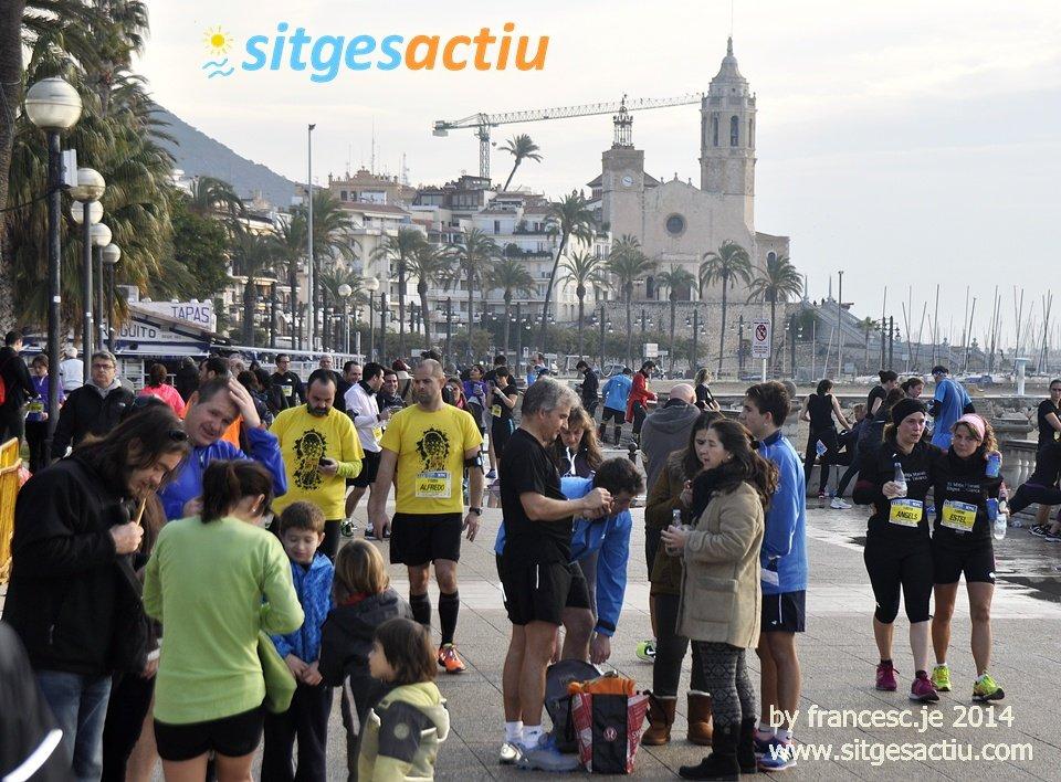 quart de marato sitges 2014