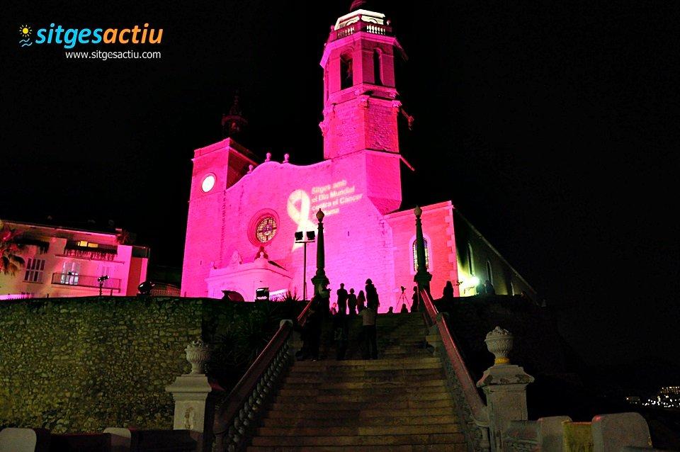Sitges commemora el dia Mundial del Càncer de Mama