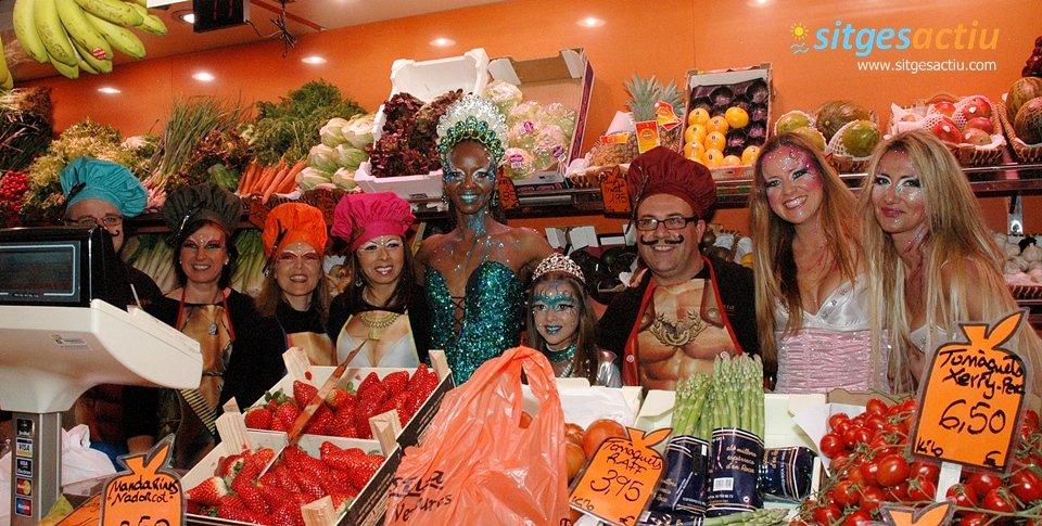 visita al mercat municipal carnaval sitges 2014