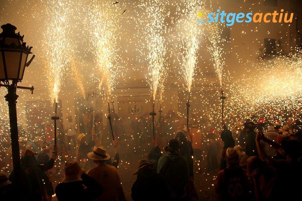 noche de fuego en sitges